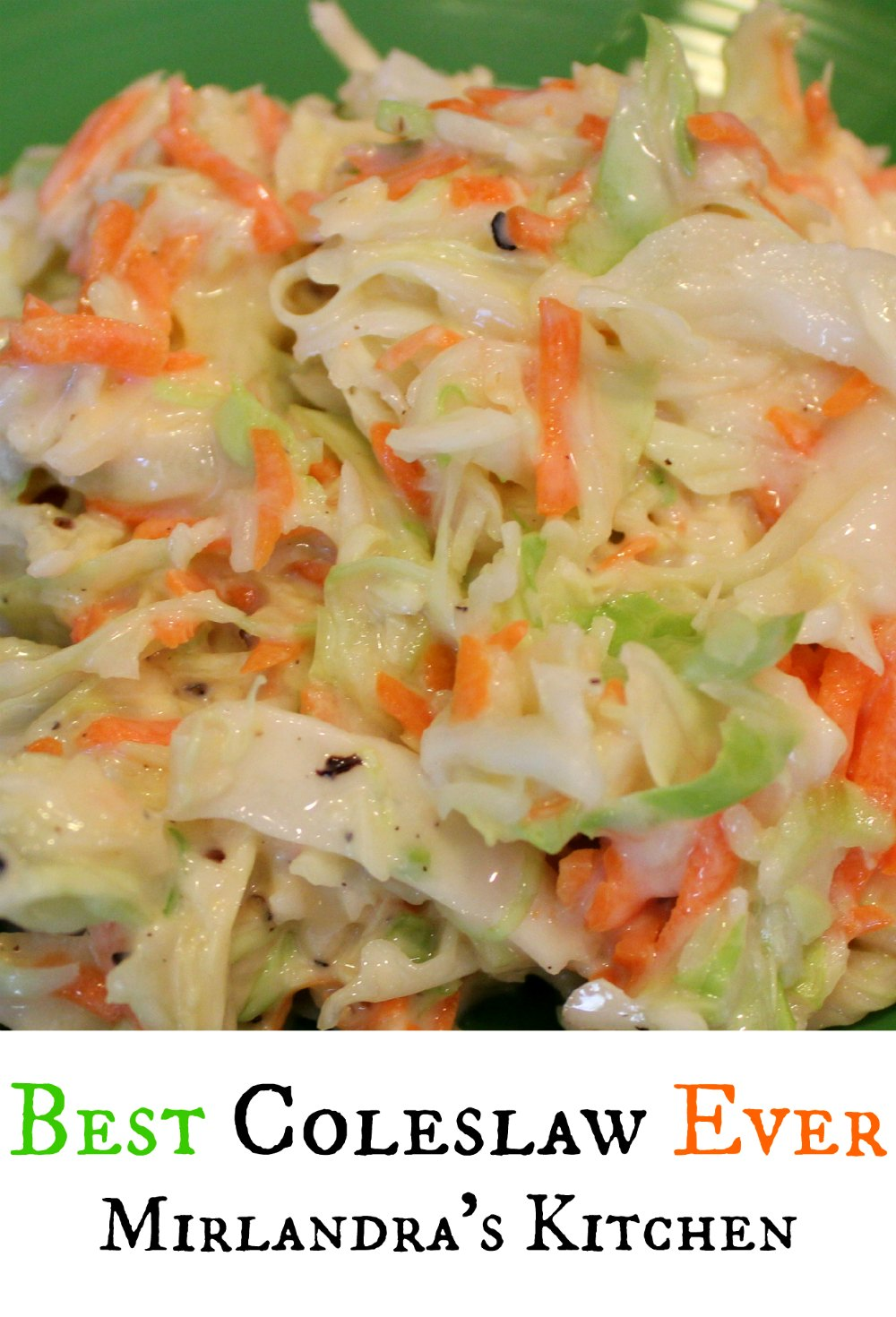 Quite simply the best coleslaw. This recipe is flavorful, sweet and tangy but not heavy or gooey. It is absolutely perfect with pulled pork or fried fish.