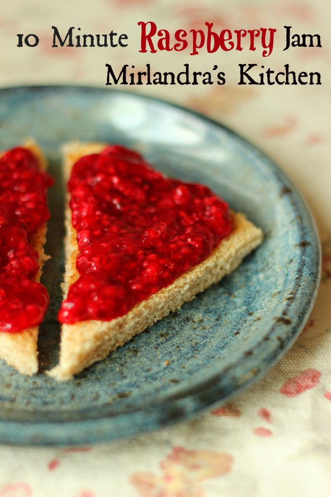This simple raspberry jam takes 10 minutes and no cooking. The easy recipe preserves the burst of fresh raspberry flavor to enjoy all winter long.