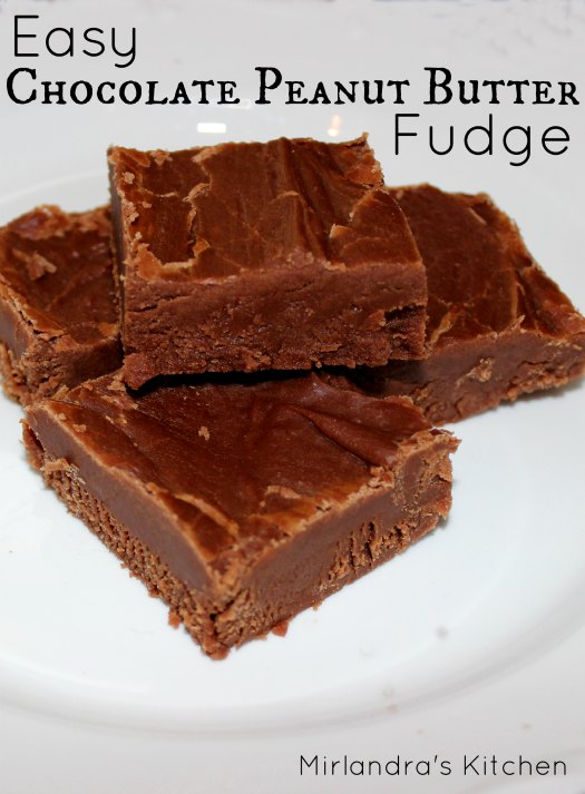 Easy Chocolate Peanut Butter Fudge