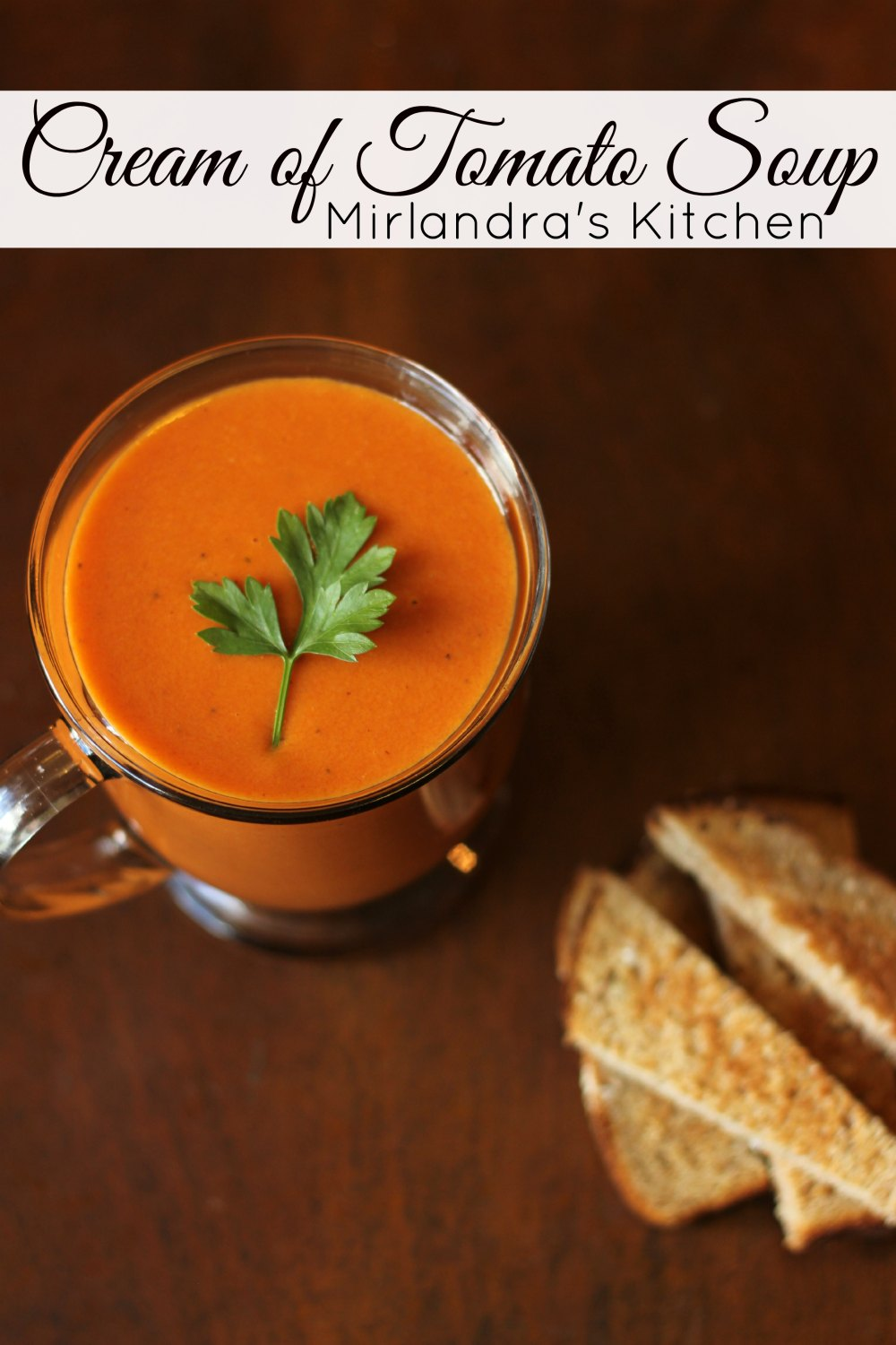 Classic, cream of tomato soup. This simple recipe makes a delicious drinking soup just like mom used to. Gluten free and ready in less than 30 minutes.