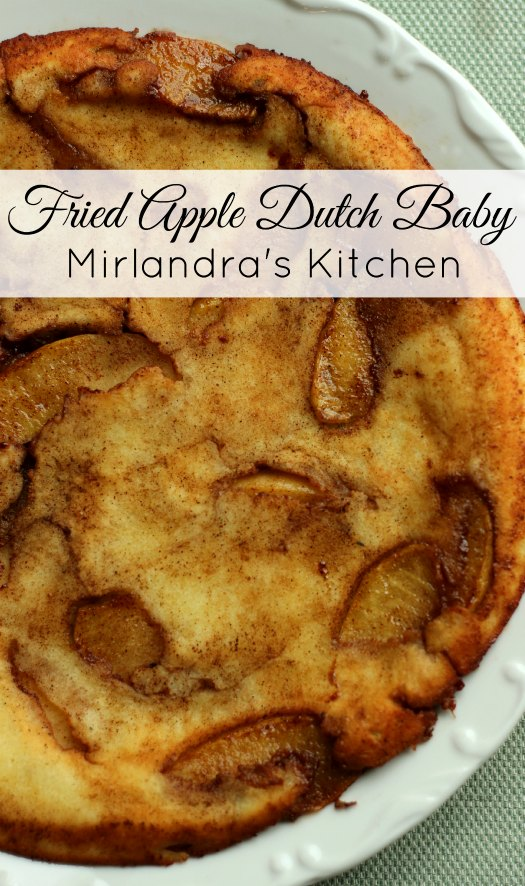 This delicious Fried Apple Dutch Baby is easy to make and full of yummy cinnamon and apples. Everybody will love having a slice for breakfast.
