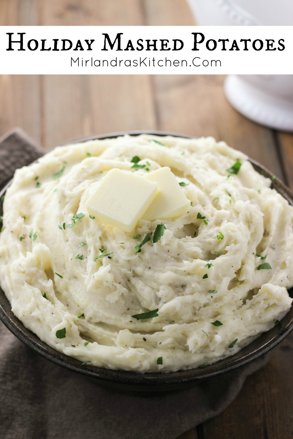 Simple, no fuss mashed potatoes that are rich and fluffy. These are perfect for holiday meals when mashed potatoes should be extra special!