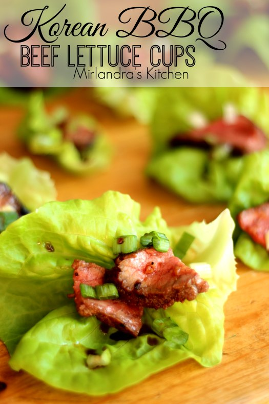 These Korean Beef Lettuce Cups make wonderful appetizers. Savory, tender beef on crisp, sweet lettuce. My guests are still talking about them a year later!