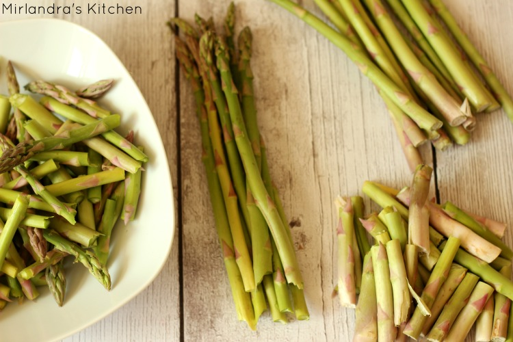 Prepping Asparagus
