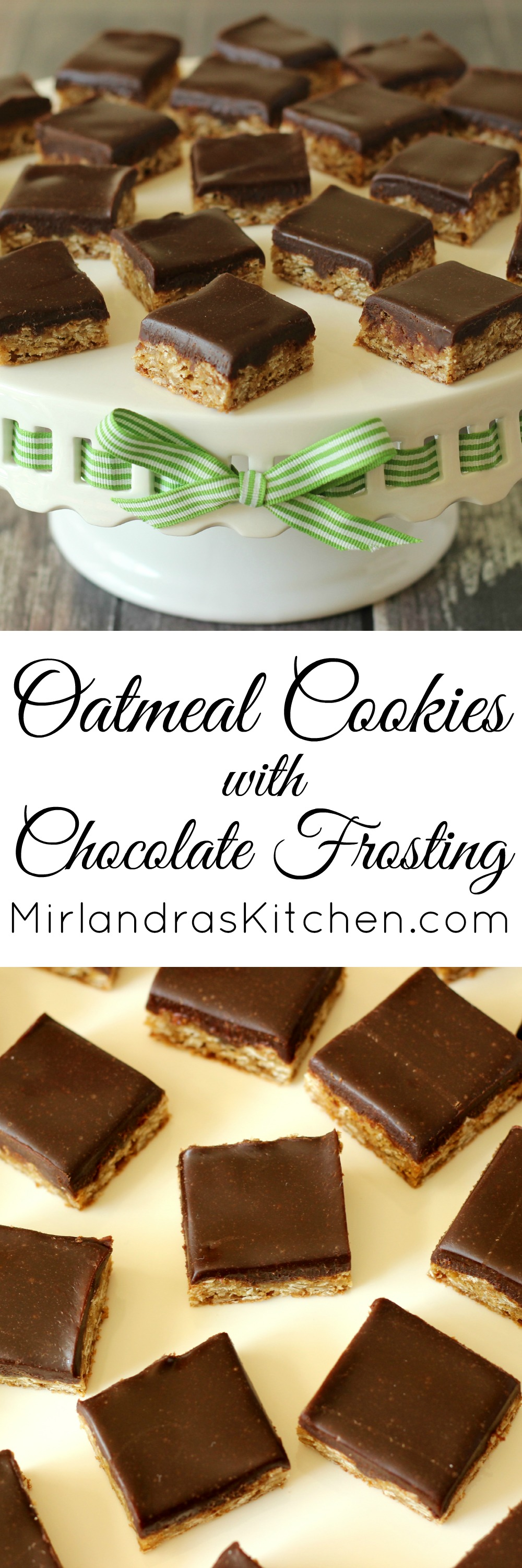 Oatmeal Cookies with Chocolate Frosting