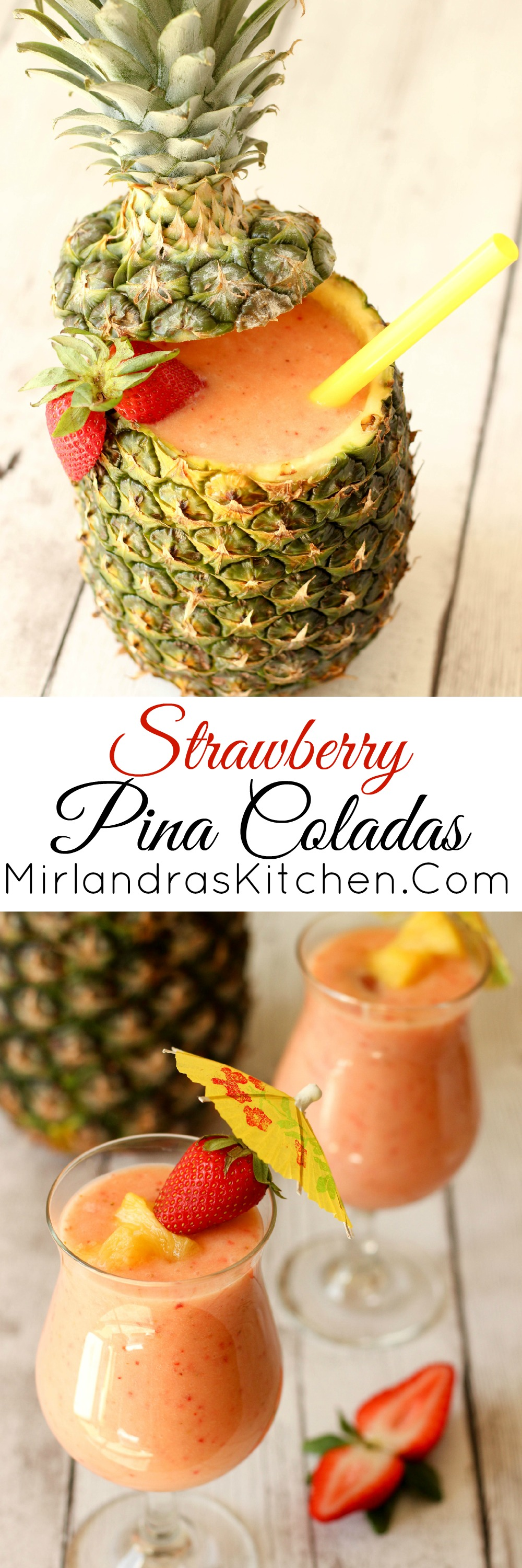 This summer try Strawberry Pina Coladas for a wonderful twist on a great classic. I have a few surprise ingredients that make this extra nice.