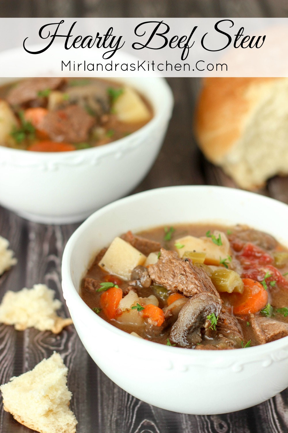 This hearty Beef Stew is ready to go in the oven in about 30 minutes.  Slow oven heat makes tender beef and savory stew.  Great for stocking the freezer!