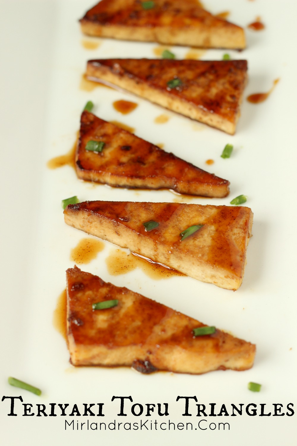Teriyaki Tofu Triangles are easy to make and popular as an appetizer or meatless main dish. Keep them in mind for your Holiday Parties and the Super Bowl! 