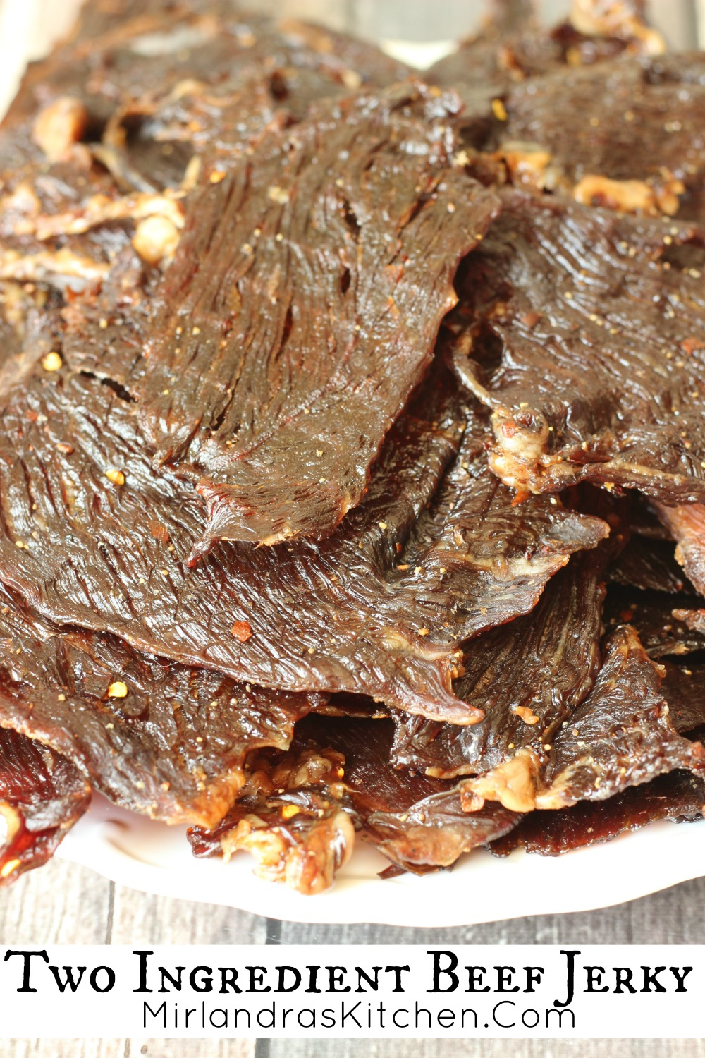 Two Ingredient Beef Jerky