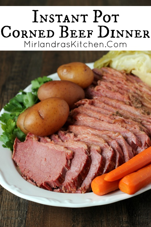 Corned beef and cabbage is the perfect Instant Pot Meal.  It is simple to make and the instant pot makes wonderfully tender corned beef brisket.  This version has potatoes, corned beef and cabbage.