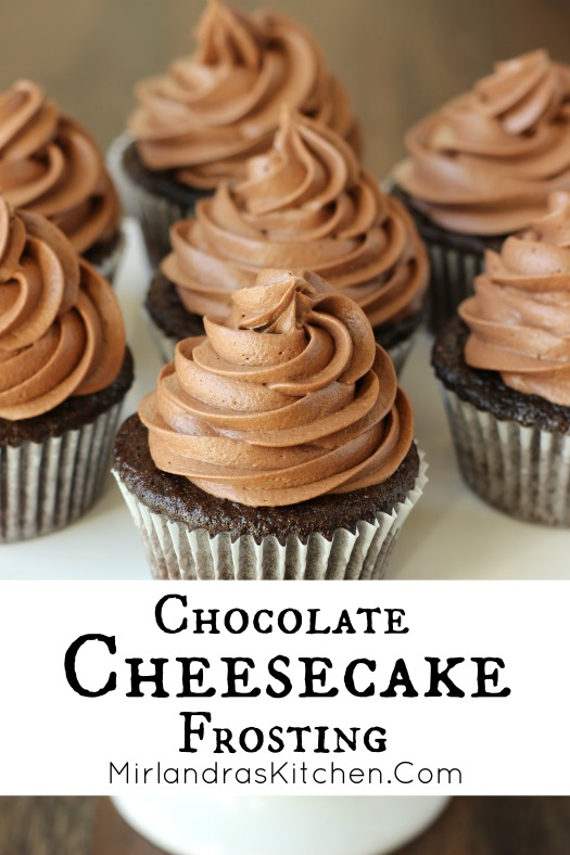 This Chocolate Cheesecake Frosting tastes just like whipped chocolate cheesecake! It is a simple chocolate