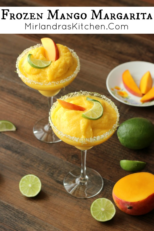 Refreshing and delicious, this Frozen Mango Margarita is the ideal summer drink. It is the perfect blend of tequila, sweet mangoes, and tangy lime.
