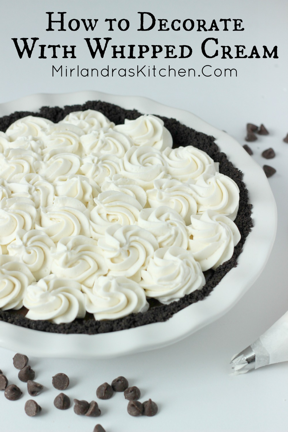 How To Decorate With Whipped Cream Mirlandra S Kitchen