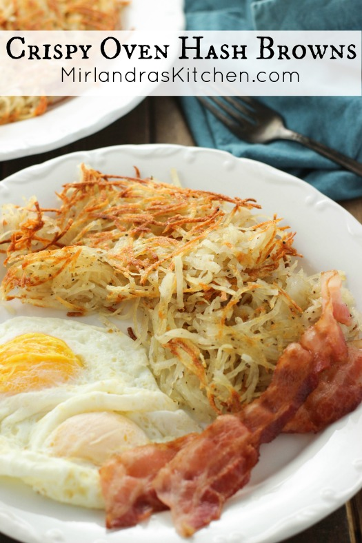 The oven is the easiest way to make perfect, crispy, golden hash browns! They taste amazing, never burn and you don't have to slave in the kitchen!