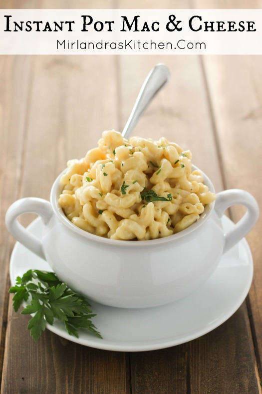 This Instant Pot Mac & Cheese is delightfully cheesy, creamy, and comforting. Best of all it takes a few minutes to throw it together. We serve it with brats, ham, and roast beef - really just about anything!