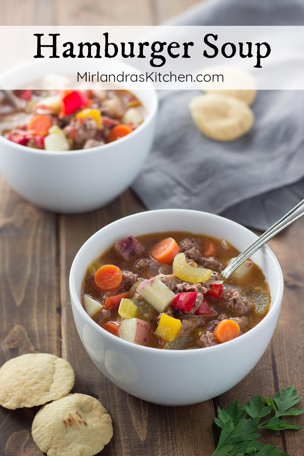 This hamburger soup is an easy and delicious meal full of veggies. I love that it fills bellies and gives us the nutrition we need to stay healthy during the cold season.