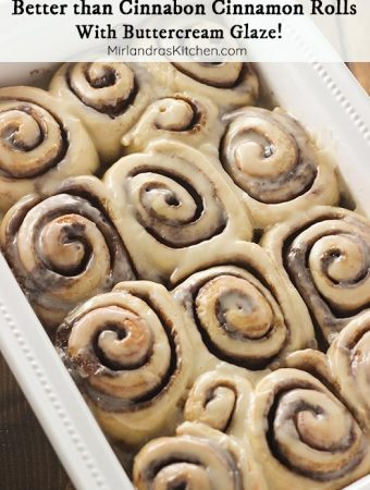 Cinnabon cinnamon rolls are fine but they can't come close to touching these epic cinnamon rolls! Each roll is full of cinnamon brown sugar and slathered in a gooey buttercream glaze. Best of all? They are easy to throw together in your bread machine! 20 minutes of active time for the best cinnamon rolls of your life!